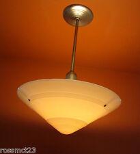 Vintage Lighting 1930s Art Deco pendant Huge 20 wide shade 500W