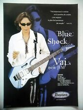 PUBLICITE-ADVERTISING :  Guitare IBANEZ Blue Shock  01/2003 Steve Vai