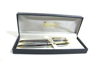 Bill Blass Pen & .9 mm Pencil Set Chrome with Gold Accents