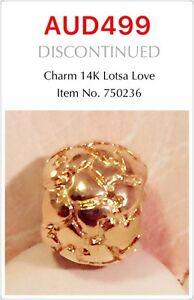 GENUINE PANDORA 14K GOLD LOTSA LOVE CHARM, 750236
