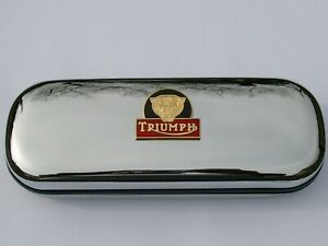 Triumph Tiger motorbike brand new chrome glasses case great gift  Christmas
