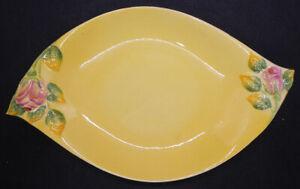 Vintage Royal Winton Grimwades Rosebud on Yellow Background Serving Dish