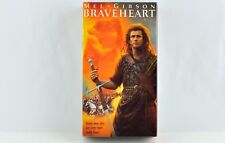 Braveheart VHS Double Cassette Video Movie Starring Mel Gibson 1995 Factory Seal