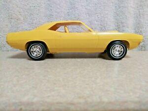 MPC 1970 Plymouth Barracuda Dealer Promo Car In Lemon Twist No Box Or Decals