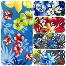HAWAIIAN PRINT LUAU FLORAL POLY COTTON FABRIC 60