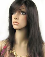 100% REMY indian human hair FRON LACE WIG FULL WIGS silky straight black brown