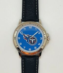 TENNESSEE TITANS CLASSIC MEN'S SPORT WATCH LEATHER BAND OFFICIALLY LICENSED NEW