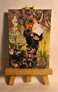 The Widower ACEO Original PAINTING by Ray Dicken a James Tissot