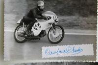 27526 Moto Rennen Foto Autografo Paolo Campanelli Italia 1962 Benelli Bici