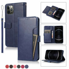 For iPhone 12 Pro Max 11 6s/7/8 Xr Leather Magnetic Wallet Card Case Stand Cover