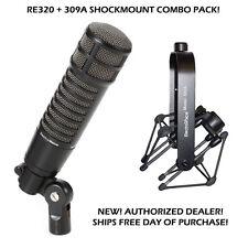 Electro Voice RE-320 Dynamic mic + 309A SHOCK MOUNT EV RE320 SHIPS DAY YOU BUY!