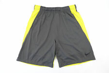 NIKE DRI FIT 742517 038 GRAY YELLOW LARGE TRAINING SHORTS MENS NWT NEW