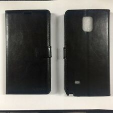 Samsung Galaxy Note 4 Fitted Leather Wallet Case Black LCWSB-SAMGNOTE4 Brand New