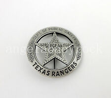 US TEXAS TX RANGERS DEPT OF PUBLIC SAFETY SERGEANT BADGE PIN INSIGNIA - REPLICA