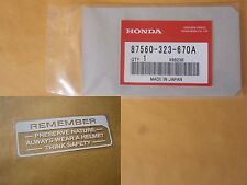 Honda Caution decal CB100 CB175 CB350 CB500 CB550 CB750 label gas tank sticker