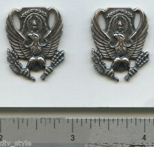 ROTC US Air Force BOS Insignia pair collar pins unissued new condition