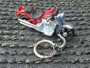 Diecast Harley Davidson FATBOY Model Toy Motorcycle Red Keyring Keychain