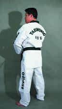 adidas Champion TKD Uniform with TKD embroidery, Black Collar, Size 7/210