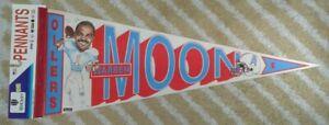 Warren Moon Houston Oilers Full Size NFL football player Pennant early 90s