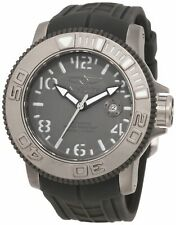 New Invicta Men's 1078 Sea Hunter SWISS MADE SW200 Automatic Grey Rubber Watch