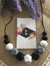 Silicone Sensory Necklace for Mum Was Teething Beads Aus Gift MONO breastfeeding