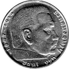 """2 Reichsmark Deutschland, 1938 B, """"Hindenburg"""" (Jäger: 366) Vorzüglich"""