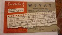 OLD VINTAGE QSL HAM RADIO CARD POSTCARD, DAYTON OHIO 1959