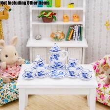 Dollhouse Miniature Porcelain Pink Rose Serving Dish Set with Utensils G8439
