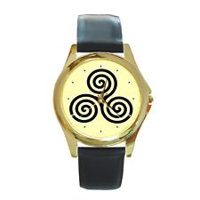Celtic Viking spirale anneau design cercle rond montre-bracelet ** objet neuf **