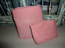 WOOLRICH RED CHAMBRAY (2) TWIN FLAT SHEET & STANDARD PILLOWCASES 100% COTTON