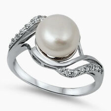 USA Seller Genuine Freshwater Pearl Ring Sterling Silver 925 Best Jewelry Size 9