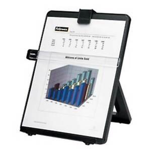 Fellowes Konzepthalter Workstation Dokumentenhalter Leseständer für A4, schwarz