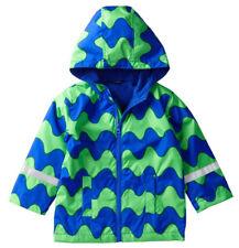 Marimekko Lokki 98 / 3 Years Roni 2 Jacket Coat Blue Green Waves Toddler