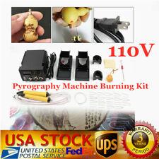 Crafts Digital Wood Burning Tool Pyrography Machine Kit 60W Pen+Accessory 110V