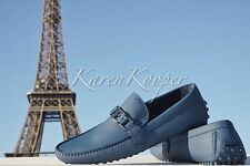 NEW AUTH LOUIS VUITTON HOCKENHEIM MEN CAR LEATHER LOAFER SHOES MOCCASIN US 11