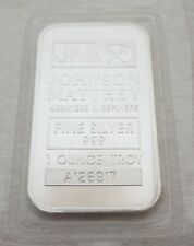 JOHNSON MATTHEY SILVER 1 OUNCE .999 FINE BAR