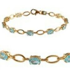 Paraibe Apatite Bracelet in 14K Gold Overlay Sterling Silver (Size 7.5) 4.500 ct