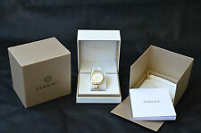 Versace Men's VQS050015 Business White Dial Two-Tone Steel Date Wristwatch