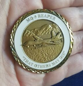 "MQ-9 Reaper ""THAT OTHERS MAY DIE"" DRONE USAF Military Challenge Coin"