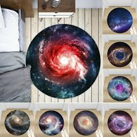 Galaxy Nebula Non-slip Round Soft Area Rug Floor Carpet Door Mat Home Decor