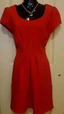 PORTMANS * red*  DRESS. Sze 10 Stretchy. Exposed Gold back zip. BRAND NEW