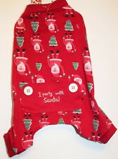 New listing Dog Pajamas Size Xs Pet Central Santa Christmas Cat Med - Lrg Pj'S / New
