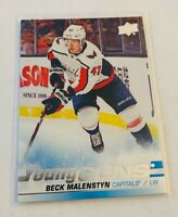 B1,937 -  2019-20 Upper Deck #480 Beck Malenstyn Young Guns Rookie