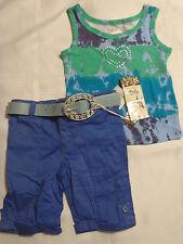 GeGe Stretch Size 5 Capri Pant Hailey Morgan SZ 6 Tank Top Shirt Outfit DEFECT