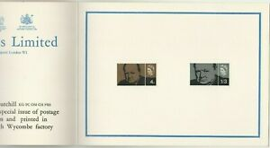 Great Britain 1965 Churchill set on Harrison & Sons presentation card