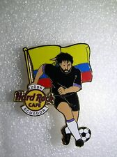 ECUADOR,Hard Rock Cafe Pin,2006 Worlds Soccer Cup Series with Flag