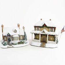 2 Hawthorne Village Thomas Kinkade Post Office & Village Tea Room Christmas