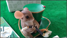 """Charming Tails Fitz and Floyd figurine """"Irish You Luck"""""""