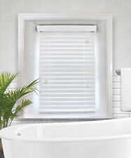 Snow White Faux Wood Venetian Blinds - 38mm, 50mm Or 63mm Wide Slats From £28.70