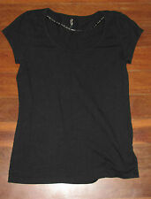 Ladies MISS SHOP Black Shirt Size 8